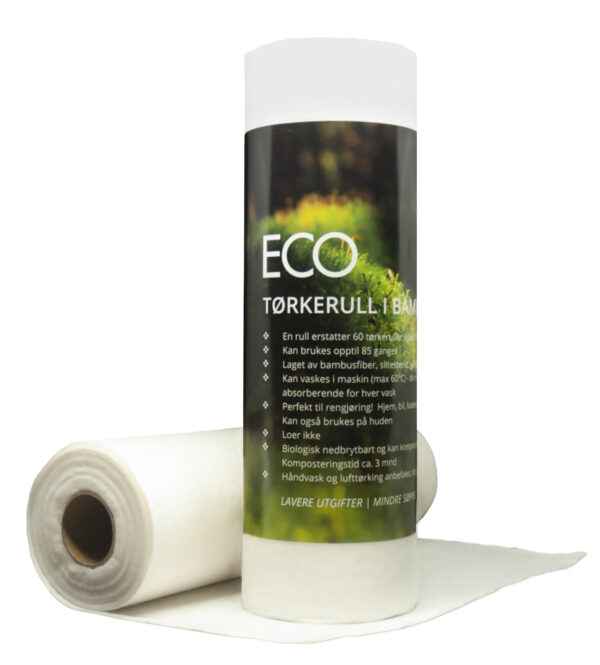 Reusable bamboo fiber drying roll